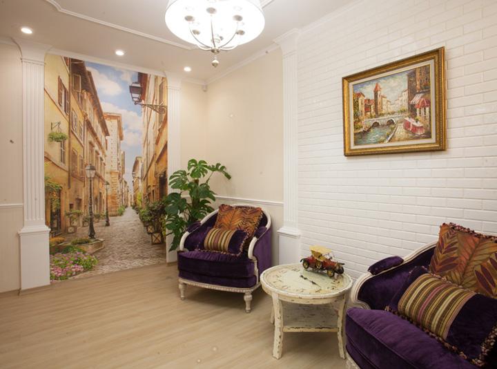 Фреска в интерьере прихожей квартиры фото